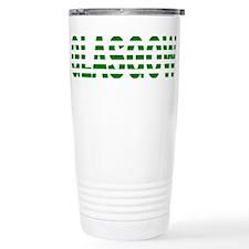 Glasgow Green and White Travel Mug