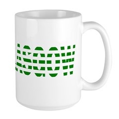Glasgow Green and White Mugs