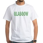 Glasgow Green And White T-Shirt