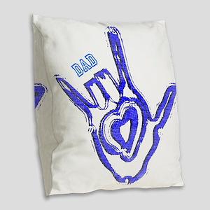 dad Burlap Throw Pillow