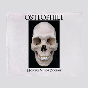 OSTEOPHILE: for bone lovers Throw Blanket