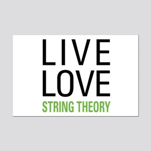 Live Love String Theory Mini Poster Print