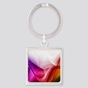 Abstract Waves Keychains