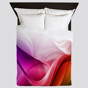 Abstract Waves Queen Duvet
