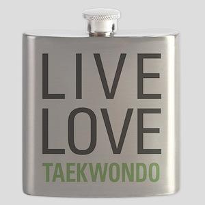 Live Love Taekwondo Flask