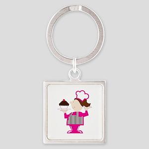 Cupcake Baker Keychains