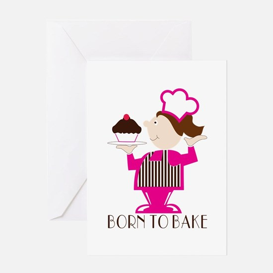 Born To Bake Greeting Cards