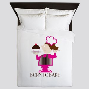 Born To Bake Queen Duvet