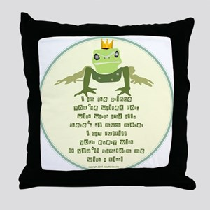 My Frog Prince Throw Pillow (Hers)