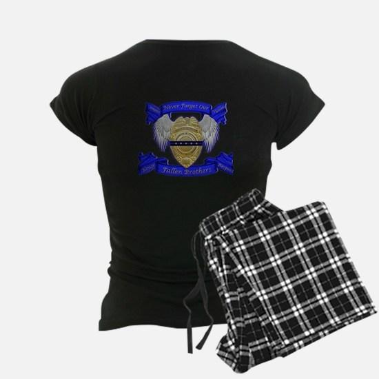Fallen Police Officer Badge Pajamas