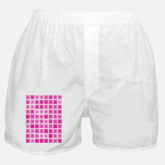 Light Pink Squares Boxer Shorts