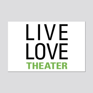 Live Love Theater Mini Poster Print