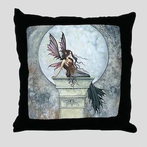 Autumn Moon Fairy Fantasy Art Throw Pillow