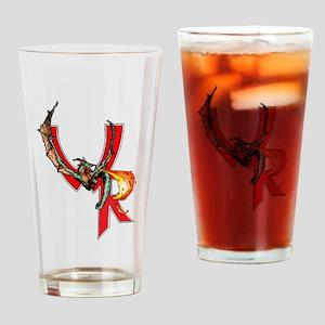 Wyvern Rising Logo Drinking Glass