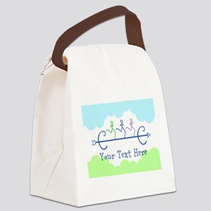 Text Option Cross Country Canvas Lunch Bag