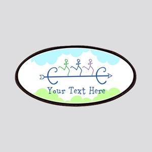 Optional Text Cross Country Running Patches