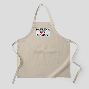 Paulina loves mommy BBQ Apron