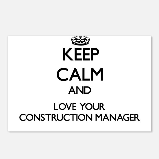 Keep Calm and Love your Construction Manager Postc