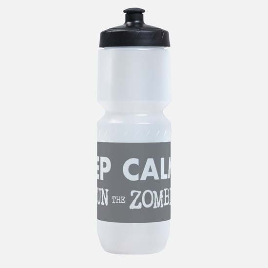 KEEP CALM but Outrun the Zombies Sports Bottle