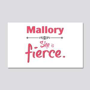 personal she is fierce - Mallory Wall Decal