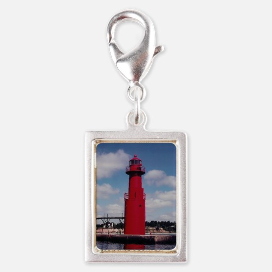 Wisconsin Lights the Way! Silver Portrait Charm
