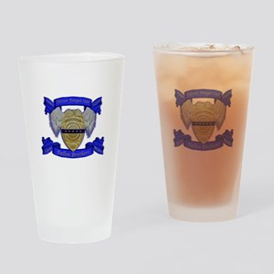 Fallen Police Officer Badge Drinking Glass