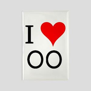 I Love OO Rectangle Magnet