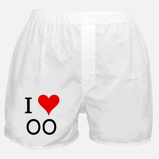 I Love OO Boxer Shorts