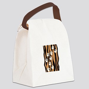 Lion Paw Print Canvas Lunch Bag
