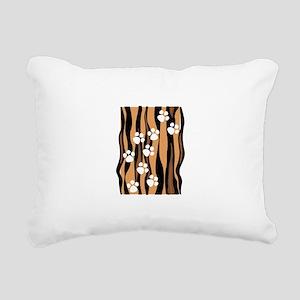 Lion Paw Print Rectangular Canvas Pillow