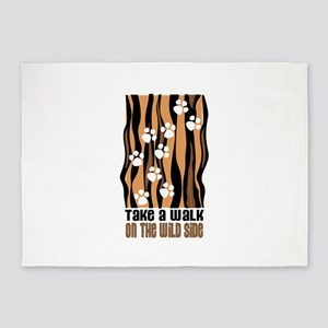 Take A Walk On The Wild Side 5'x7'Area Rug