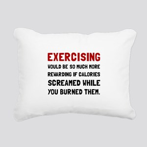 Exercising Calories Screamed Rectangular Canvas Pi