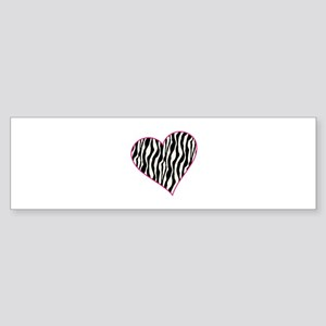 Zebra Heart Bumper Sticker