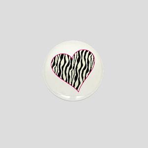 Zebra Heart Mini Button