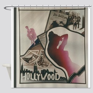 Hollywood Painted Stained Glass Shower Curtain