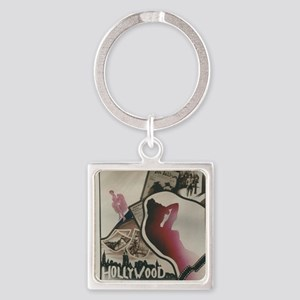 Hollywood Painted Stained Glass Keychains