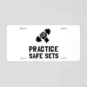 Practice Safe Sets Aluminum License Plate
