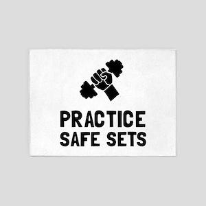 Practice Safe Sets 5'x7'Area Rug