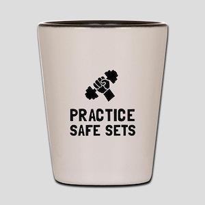 Practice Safe Sets Shot Glass