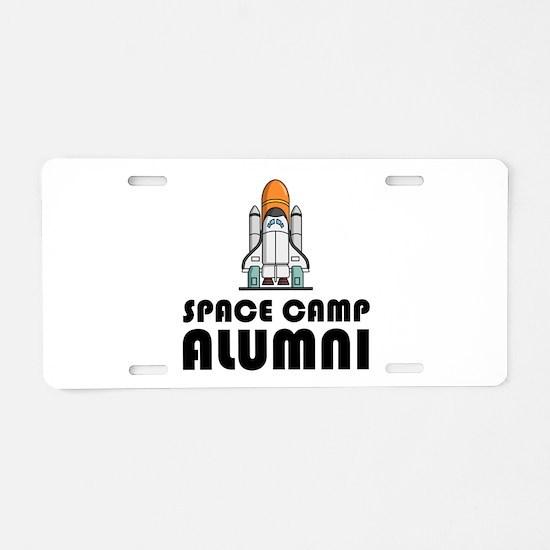 Space Camp Alumni Aluminum License Plate