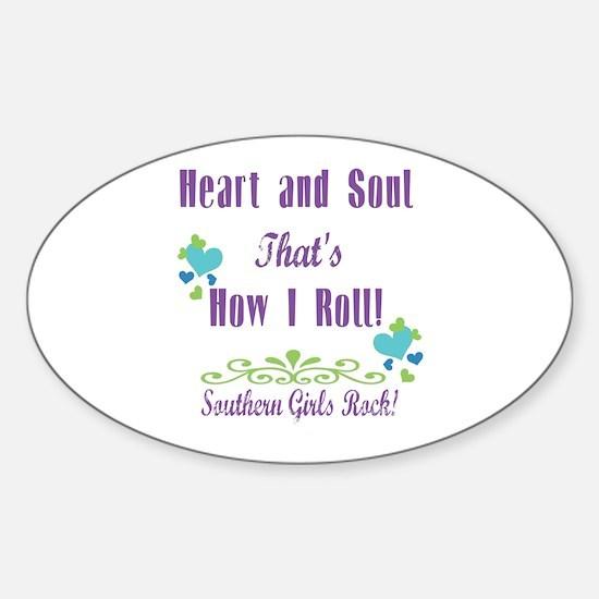Southern Girls Sticker (Oval)