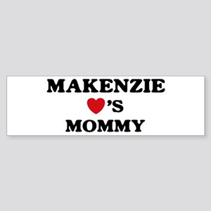 Makenzie loves mommy Bumper Sticker