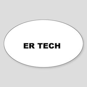 ER TECH Oval Sticker