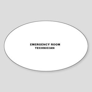 Emergency Room Technician Oval Sticker