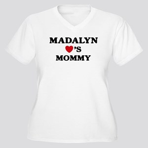 Madalyn loves mommy Women's Plus Size V-Neck T-Shi