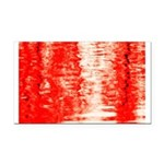 Red Sunrise Rectangle Car Magnet