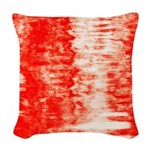Red Sunrise Woven Throw Pillow