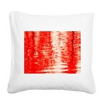 Red Sunrise Square Canvas Pillow