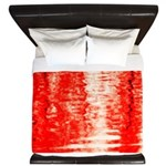 Red Sunrise King Duvet