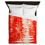 Red Sunrise Queen Duvet
